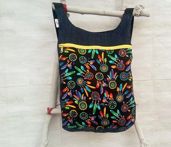Mochila mujer estampado atrapasueños: Bolso mochila mujer