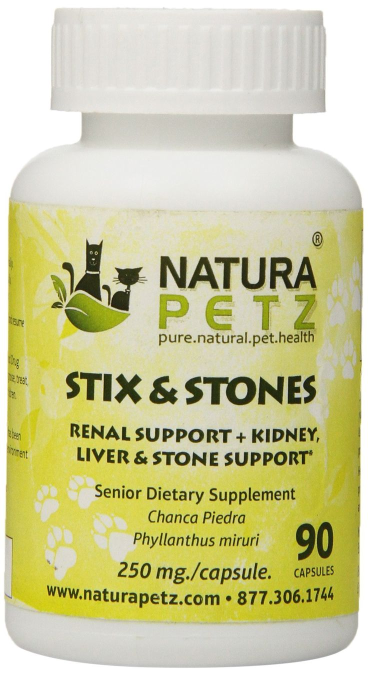 Natura Petz Stix and Stones Renal Support for Senior Pets Kidney Liver and Stone Support for Senior Pets 90 Capsules 250mg Per Capsule