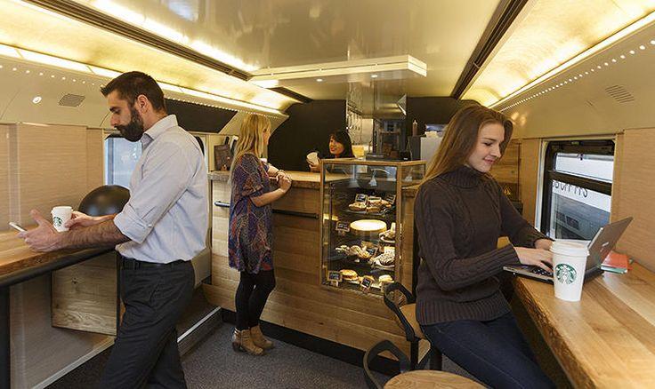 9   This Train Is Hiding A Full Starbucks Store Inside   Co.Design   business + design