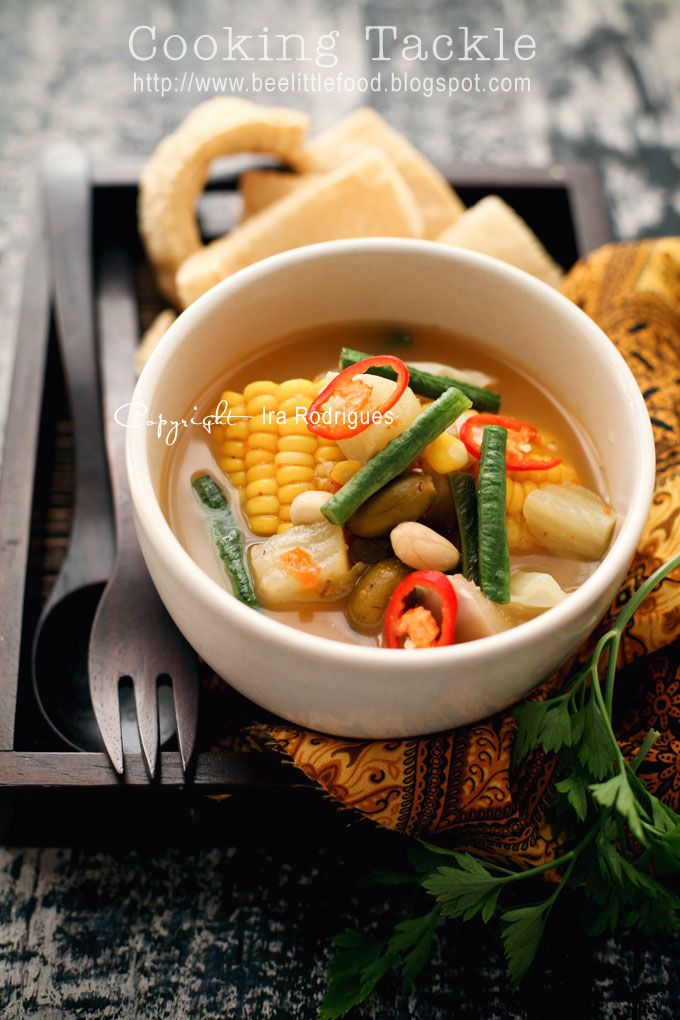 CookingTackle: Sayur asem / various vegetables in tamarind soup