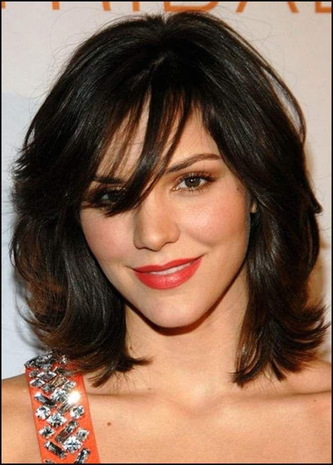 Frisur Mittellang Gestuft Für Kurz Haar Damen Frisuren Halblang ...   Einfache Frisuren