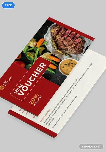 Free Meal Voucher Voucher design  Templates 2019 Food vouchers