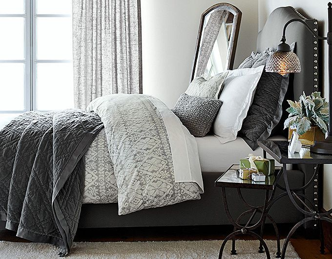 Bedroom - apartment ideas #grayscale #modern #contemporary