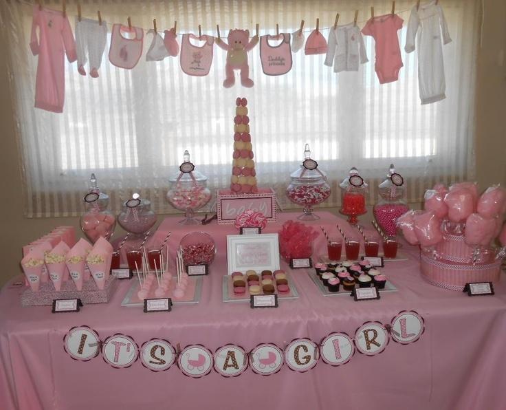 Baby shower desert table ideas!