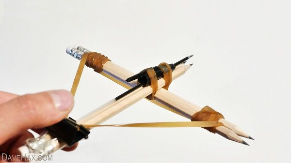How To Build A Working Crossbow From Office Supplies [Video]