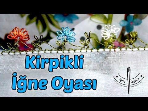 Kirpikli İğne Oyası Yapılışı (Yazma Modeli) HD Kalite - YouTube
