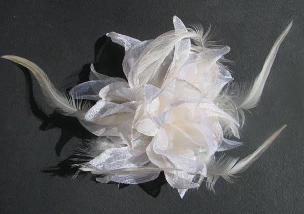 """ΓΥΝΑΙΚΕΙΑ :: Οργάντζα Λουλούδι με Στρασάκι στις Άκρες σε Ζαχαρί - Ιβουάρ - με Λάστιχο και Καρφίτσα """"Alice"""" -http://www.memoirs.gr/"""