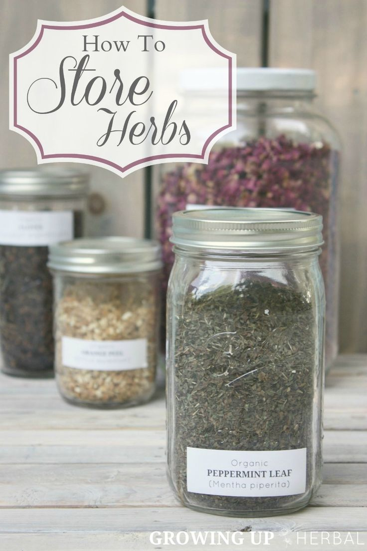 How To Store Herbs | Growing Up Herbal | In order for herbs to work they must be stored properly. Learn how what that means here. More