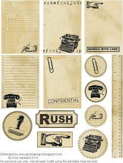 tarjetas y sellos con aire retro vintage