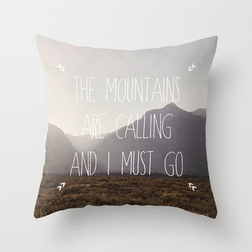 John Muir quote pillow by Monarch Images on Etsy