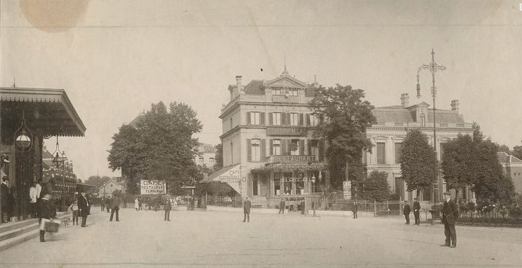 Dit is het Stationsplein van Arnhem in 1905. Herkennen jullie er nog iets van?