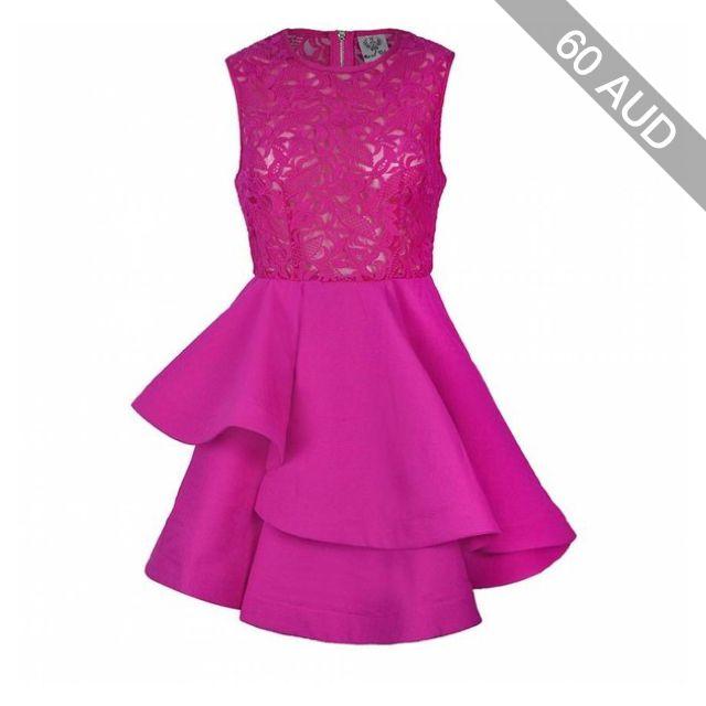 Ally Fashion Lace bodice layered skater dress