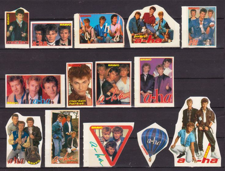 A-HA MORTEN HARKET NORWAY MUSIC 14 RARE BRAVO SMALL VINTAGE OLD STICKERS R16685