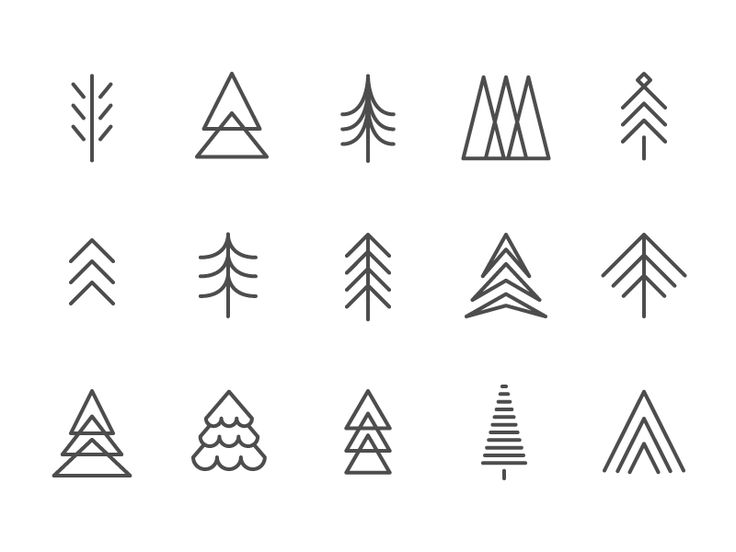 simple trees to add to my logo design
