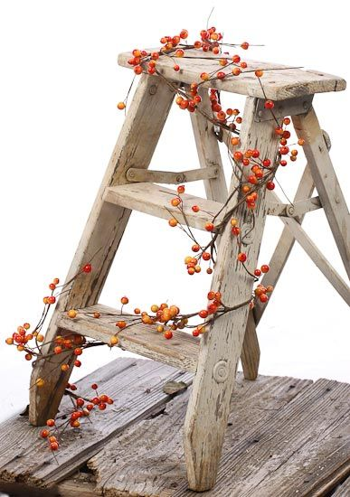 Bittersweet Vine garland | Fall Harvest Bittersweet Berry Garland - Garlands - Floral Supplies ... Like this! only 10X bigger! lol