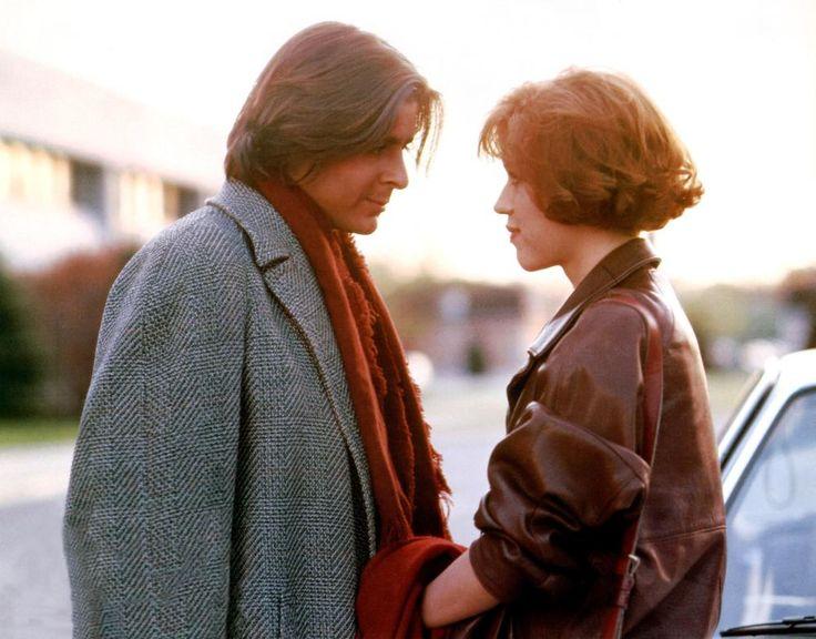 Judd Nelson and Molly Ringwald in John Hughes' The Breakfast Club (1985).