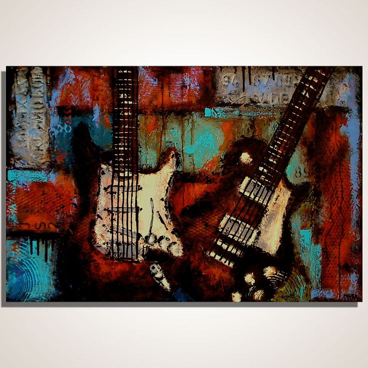 140 best Guitar Paintings images on Pinterest | Art boards ...