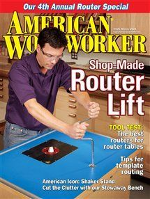Shop-Made Router Lift Features you can't buy at a price you won't believe. By…