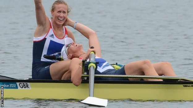 Heather Stanning & Helen Glover win gold for GB