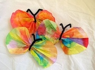 coffee filter butterflies. We made these in my second and third grade classrooms. We added a magnet to the back and I hot glued a class pic to the front for mother's day gifts.