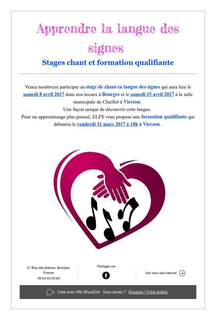 Apprendre la langue des signes  Stages chant et formation qualifiante