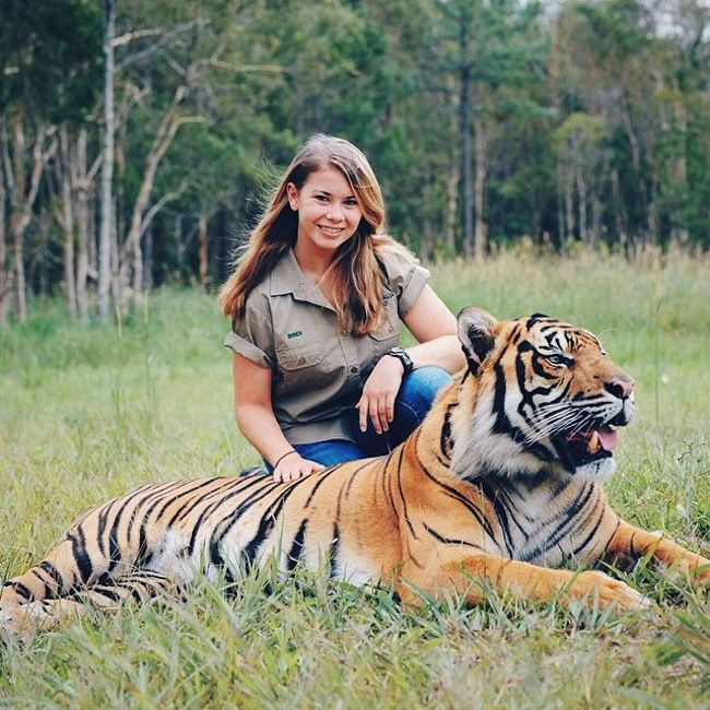 Bindi Irwin began appearing on TV shows aged just two.