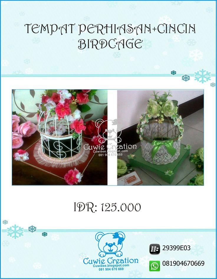 Hantaran Sangkar / Birdcage cuwie creation  instagram @cuwiecreation