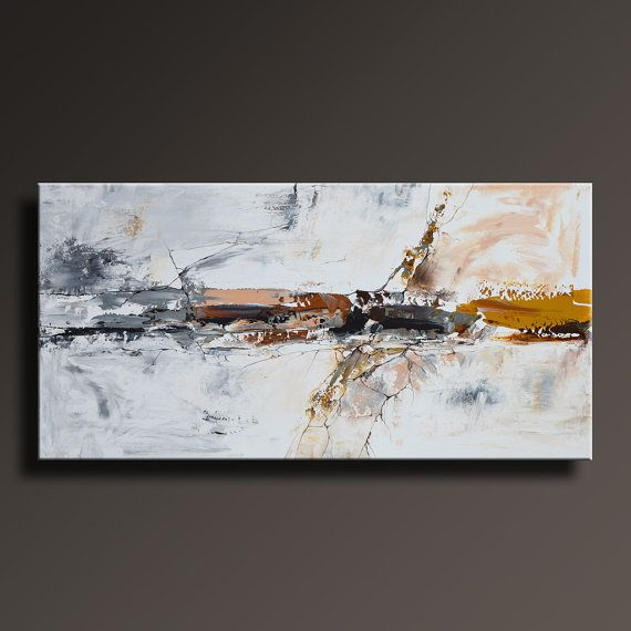 48 Large ORIGINAL ABSTRACT Brown Gray Black White by itarts