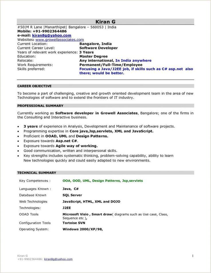 fresher resume format for mba finance