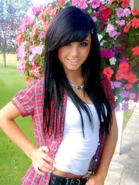 Straight Hairstyles 20 Best Straight Bang Styles Images On Pinterest  Hair Cut Hairdos