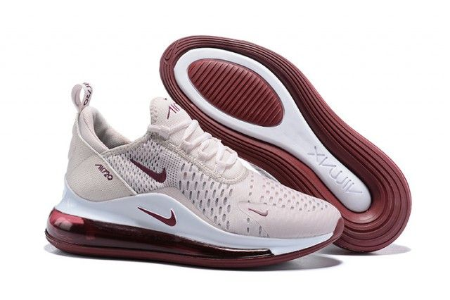 Nike Air Max 720 270 Cherry Pink Wine Red White The New 720 Bubble