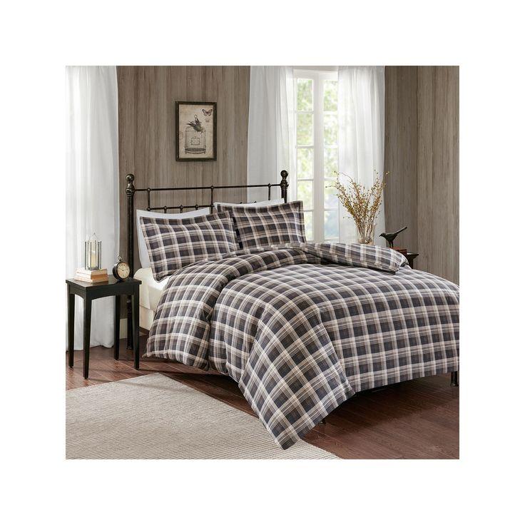 Woolrich 3-piece Tasha Flannel Duvet Cover Set, Brown