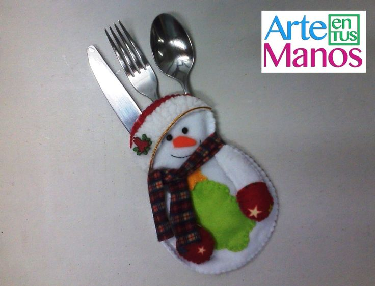 Muñeco de Nieve Porta-cubierto Navideño (Mono de Nieve)