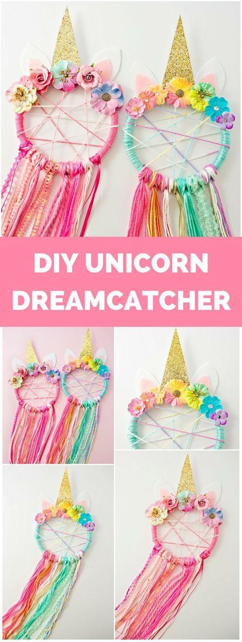 DIY Unicorn Dreamcatcher #unicornparty #unicorncrafts #unicornio #diyunicorn #unicorn #dreamcatcher