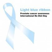 Cinta de color azul claro. Concienciación sobre el cáncer de próstata.