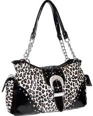 Leopard Diva Bling Bag-Natural