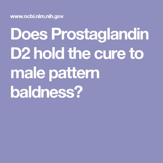 Does Prostaglandin D2 hold the cure to male pattern baldness?