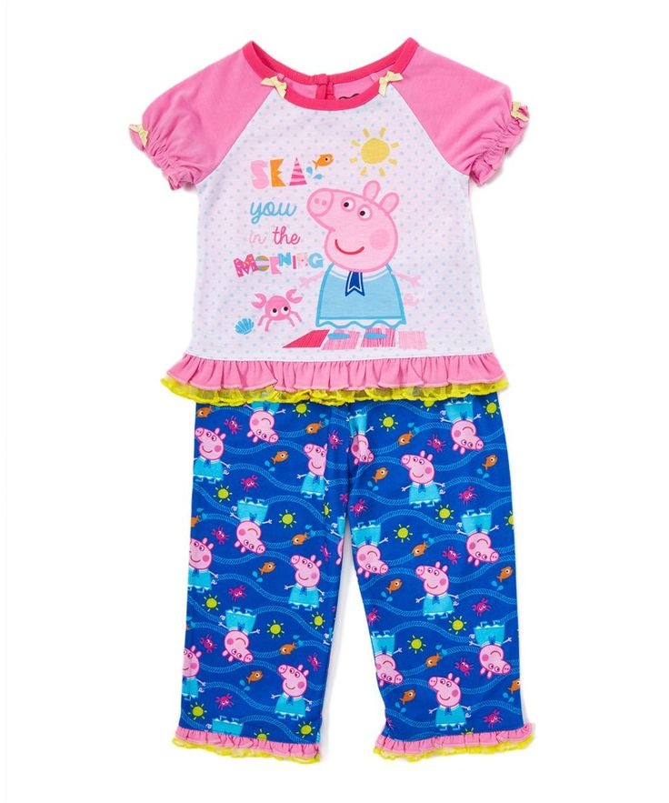 Pink Peppa Pig 'Sea You at the Beach' Pajama Set - Toddler