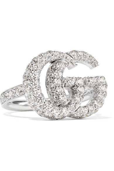 1737d9ae1 Gucci - 18-karat White Gold Diamond Ring in 2019 | Products | White ...