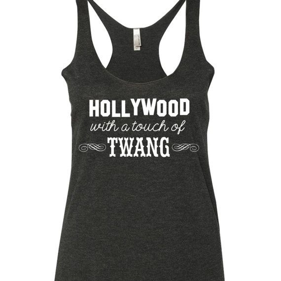 Hollywood With a Touch of Twang Tank Top. Jason Aldean Tank top. Jason Aldean shirt. Country tank top by SouthernCharme
