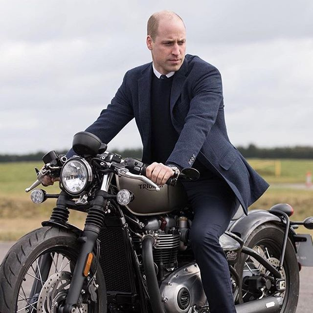 Prince William looking fully at home on a motorcycle  (RG @kensingtonroyal) via RED MAGAZINE official Instagram - #Beauty and #Fashion Inspiration - Beautiful #Dresses and #Shoes - Celebrities and Pop Culture - Latest Sales and Style News - Designer Handbags and Accessories - International Advertising Campaigns - Gifts and Bargain #Shopping Guide - Famous Luxury Brands on Instagram - Trendsetters Fashionistas and Shopaholics - Editorial Magazine Covers - Supermodels and Runway Models