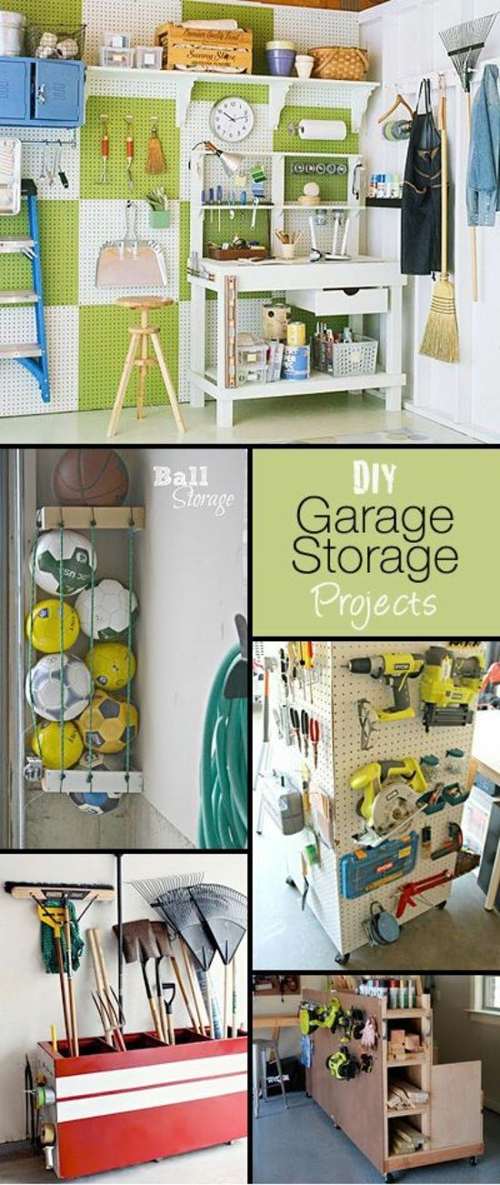 garage umbauen stauraum ordnung halten (Diy Storage Garage)