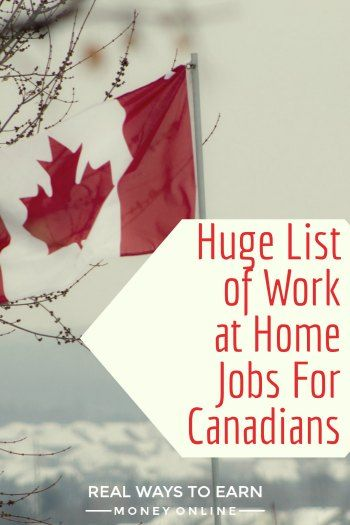 The massive list of work at home jobs for Canadians.