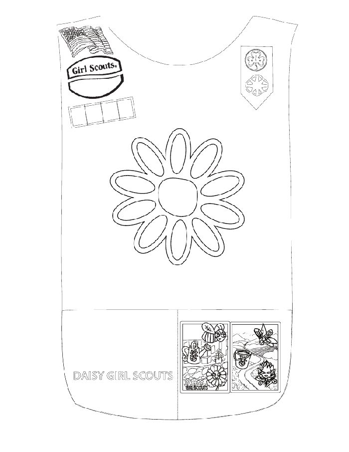 17 best images about girl scout coloring pages on for Girl scout coloring pages for daisies