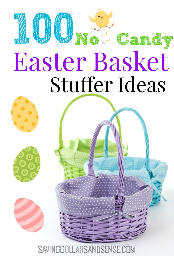 100 fun Easter Basket Ideas and none of them include candy!! Could be used for stocking stuffers as well.