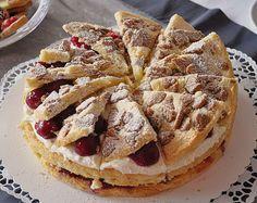 Geheime Rezepte: Spekulatius - Kirsch - Torte (optisch tolle, aber einfach zu machende Weihnachtstorte)