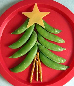 Healthy holiday snack! The kiddos love these sugar snap peas what a fun idea.