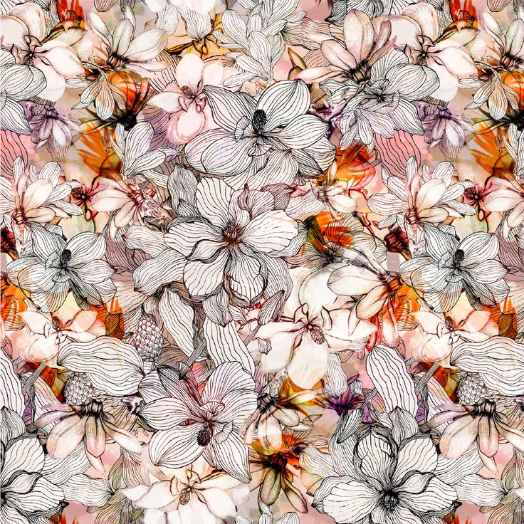 Floral - juliana veiga - Textile Design & Illustration