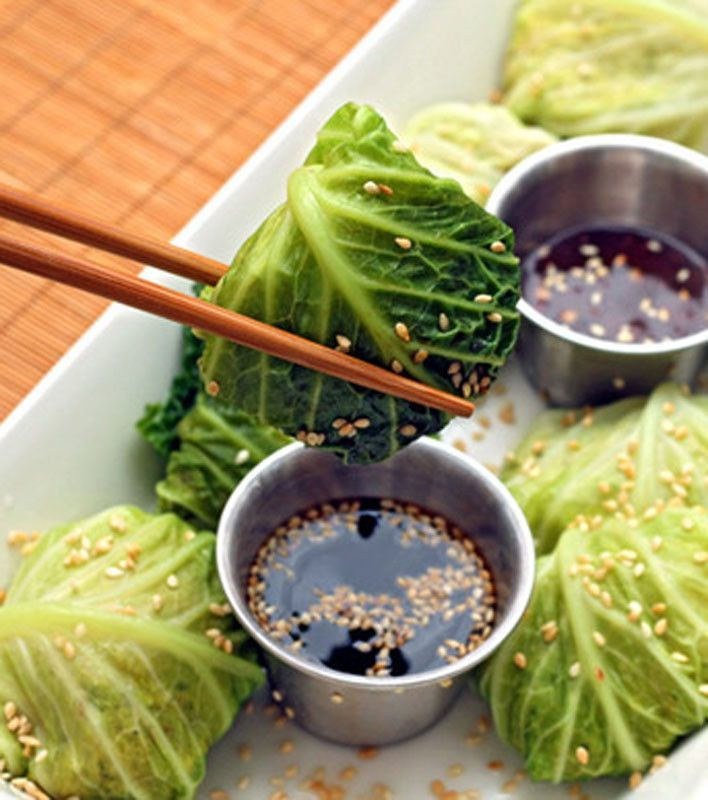 Jamie Oliver's Steamed Asian Chicken, mini stuffed cabbage
