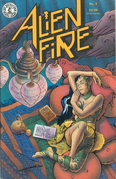 Alien Fire (Kitchen Sink Press) #3 (July 1987) by Anthony Smith and Erik Vincent